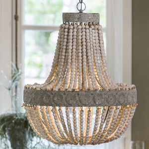 Anvers Wooden Bead Chandelier - furnishings & fittings