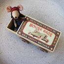 racer mouse in matchbox bed with wheels