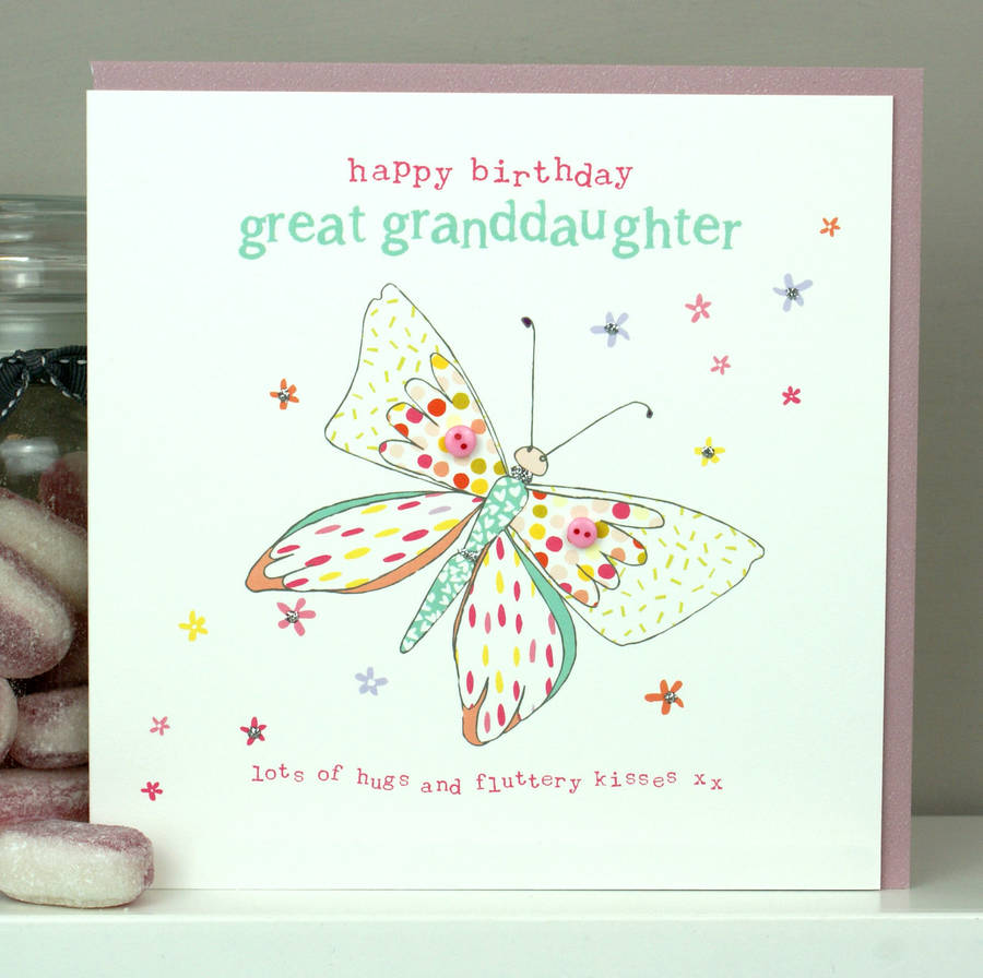 Great Granddaughter Birthday Card By Molly Mae