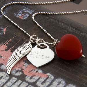 Girls Personalised Sterling Silver Twilight Necklace - gifts for teenagers