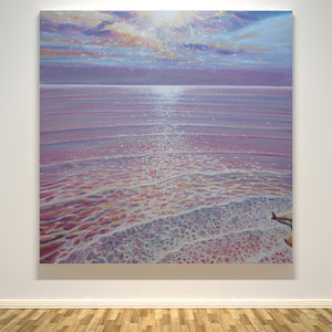 A New Perspective Sunset Seascape - peaceful artwork trend