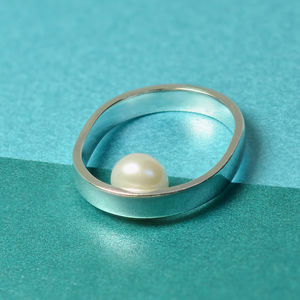 'Beautifully Simple' Handmade Pearl Silver Ring