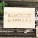 Personalised Gardening And Seed Box