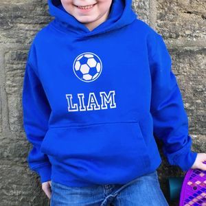 Football Personalised Children's Hoodie - clothing