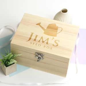 Personalised Wooden Seed Box - storage