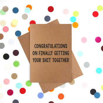 'Getting It Together' Funny Congratulations Card