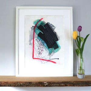 'Gateway' Colourful Modern Abstract Interior Art Print