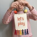 'Let's Play' Knitted Wall Hanging