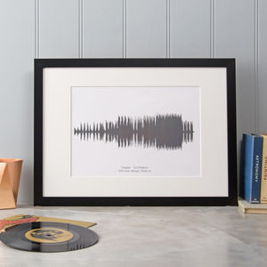 Personalised Song Sound Wave Print - gifts for him