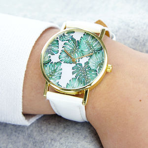 Tropical Print Watch - women's accessories