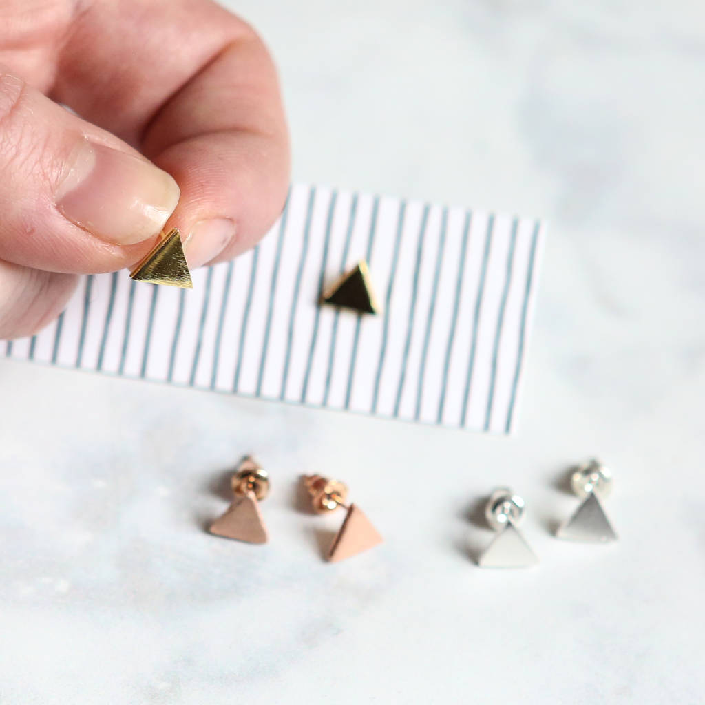 stud square steel earring studs earrings staple bar gold stainless handmade delicate rbvahfboo product minimalist simple rose