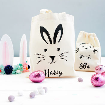 Personalised Sketch Bunny Or Chick Bag