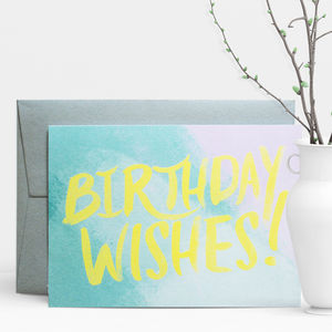 Birthday Wishes Painter Greeting Card