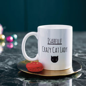 Personalised Cat Lady Mug - 60th birthday gifts