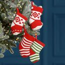24 Mini Knit Advent Stocking Christmas Decorations