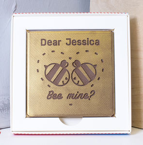 Personalised 'Bee Mine' Chocolate Card - chocolates & confectionery