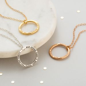 Personalised Circle Necklace - women's jewellery