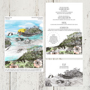 Oceans And Islands Destination Wedding Stationery