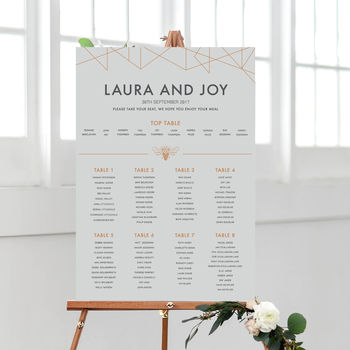 Geometric Table Plan