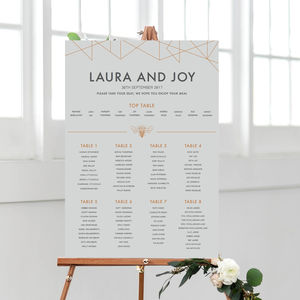 Geometric Table Plan - table plans