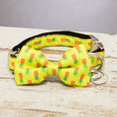 The Soho Yellow Pineapple Dog Collar Bow Tie