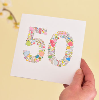 girls things 50th birthday card for women