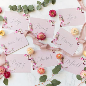 Superieur Set Of Eight Table Names: Secret Garden Collection