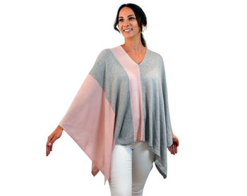 Silk Cashmere Multi Ways Knitted Poncho And Scarf