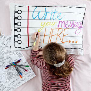 Doodle Pillowcase Kit + 10 Pens, Colour And Design