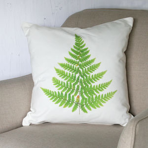 Fern Leaf Cushion - living room