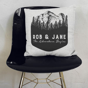 Personalised Adventure Cushion - home sale