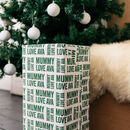 Christmas Letterpress Personalised Wrapping Paper