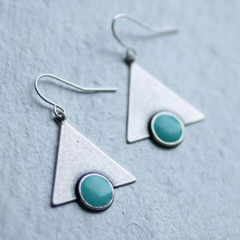 Turquoise Deco Earrings