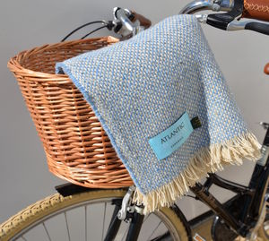 Bike Basket And Blanket Gift Set - storage & organisers