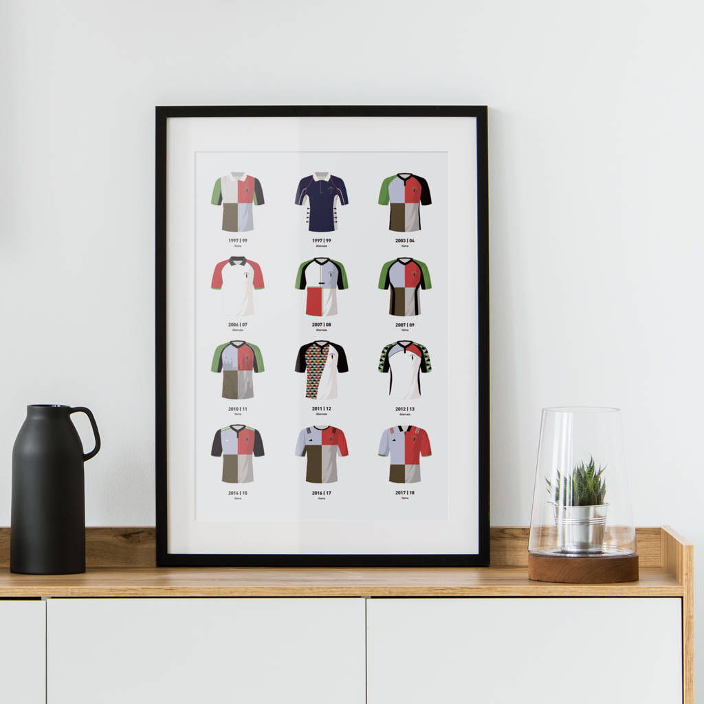 Classic Kits Rugby Team Print