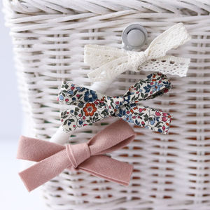 Liberty Floral Trio Of Bows - hair accessories