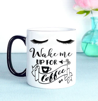 Wake Me Up For Coffee Mug, Mascara Lashes