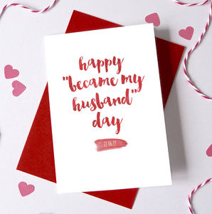 Personalised 'Became My Husband/Wife' Anniversary Card