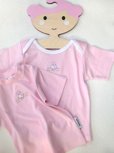 Baby T Shirt With Rabbit Embroidery