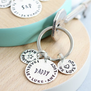 Personalised Sterling Silver Keyring - womens
