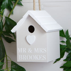 Personalised Heart Birdhouse - garden sale