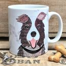Brown And White Collie Dog Mug
