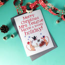 Personalised big Christmas card – mice design