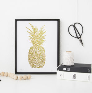 Golden Pineapple Screenprint