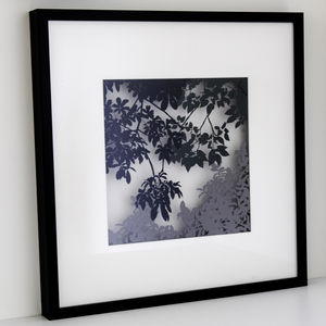 Framed Paper Cut Canopy Scene - new in prints & art