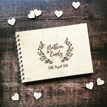 Laurel Floral Woodland Wedding Guestbook