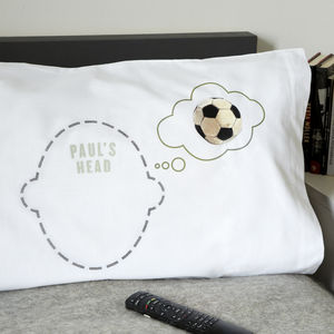 Personalised Pillowcase Football Dreams Footie Fan - children's room
