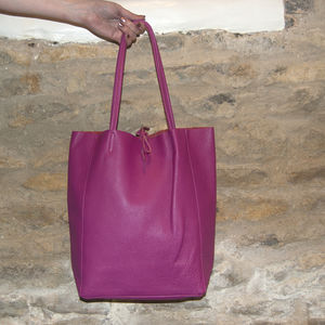 Italian Leather Tote - winter sale