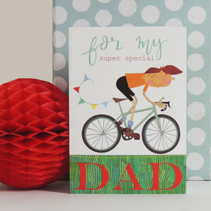 Bicycle Dad Greetings Card