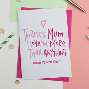 Mothers Day Card 'Thanks Mum'